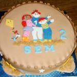 Enkellaags zandkasteel taart