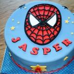 Spiderman hoofd taart