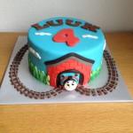 Hoge Thomas de trein taart