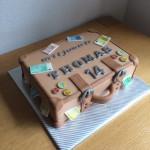 Geld koffer taart