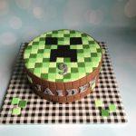 Ronde Minecraft taart