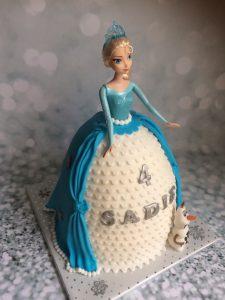 Blauw/witte prinses taart