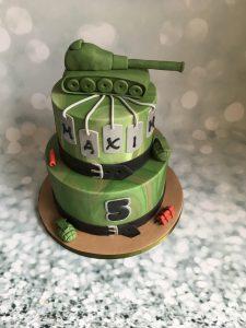 Leger tank taart