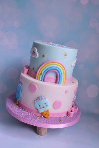 Kawaii ijsjes regenboog taart